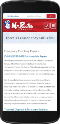 Mobile Websites for Plumbers